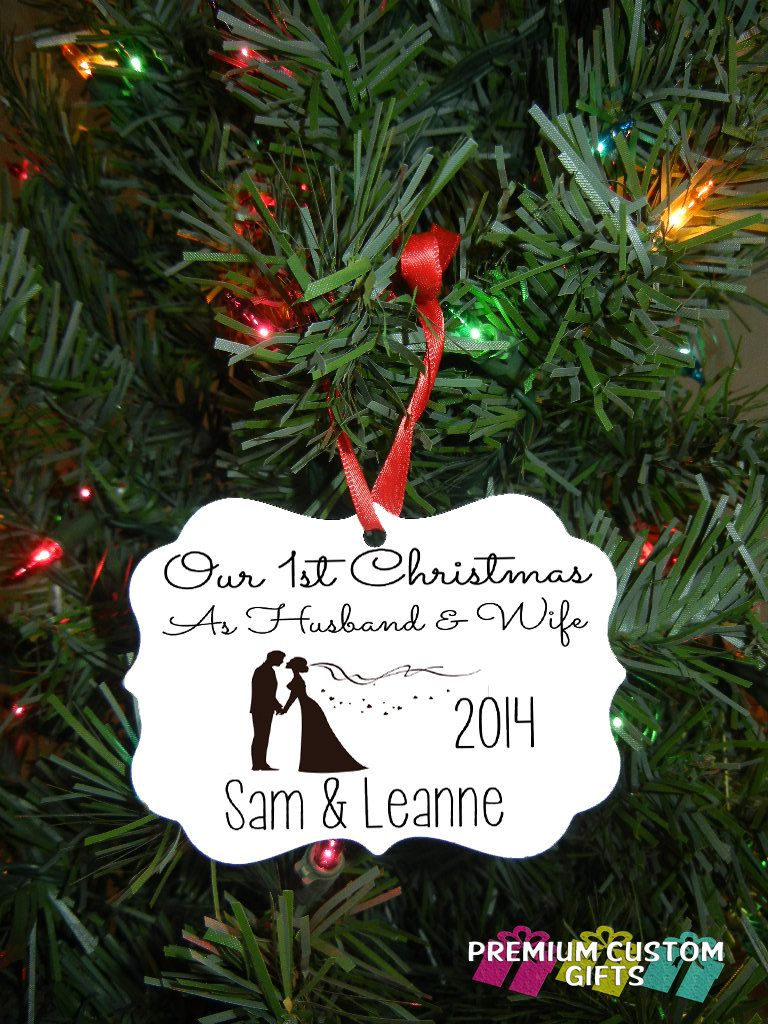 Our first christmas ornament wedding gift by premiumcustomgifts