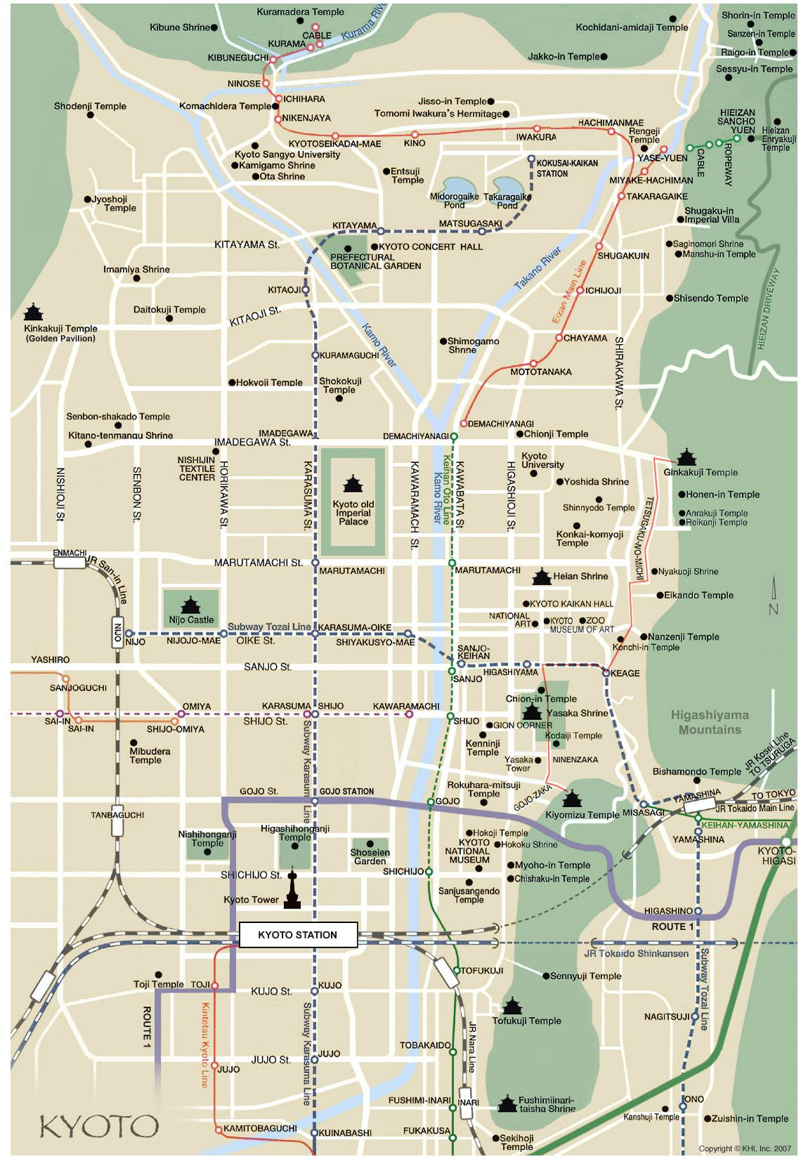 Kyoto Map English Places Japan Pinterest Kyoto - Japan map english version