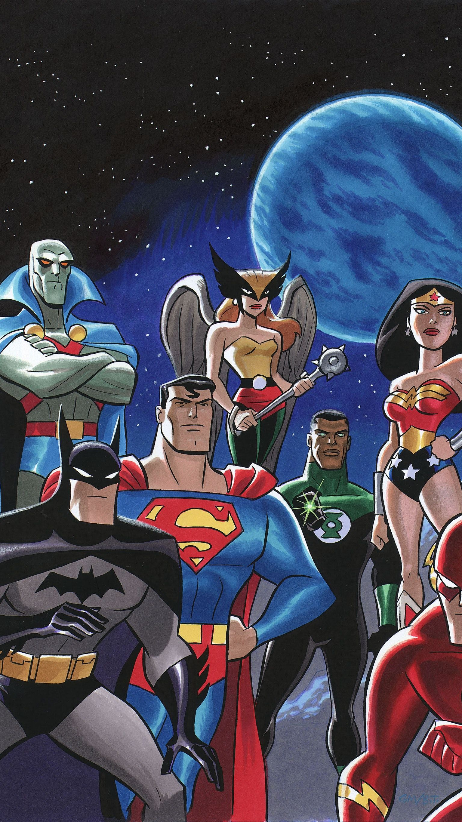 Justice League Phone Wallpaper Dc Marvel Universe One World