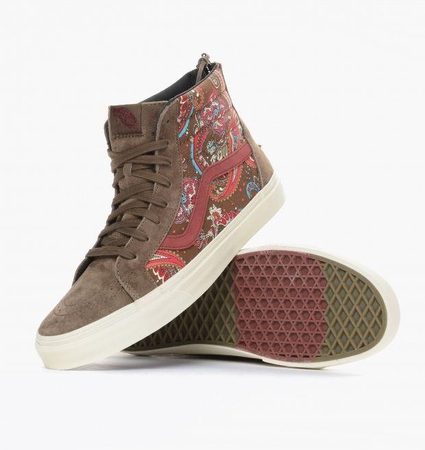 5e66aaff76 Vans Sk8 Hi Zip CA Paisley Olive Brown Red Blue Shoes Mens 7.5 Womens 9 NEW