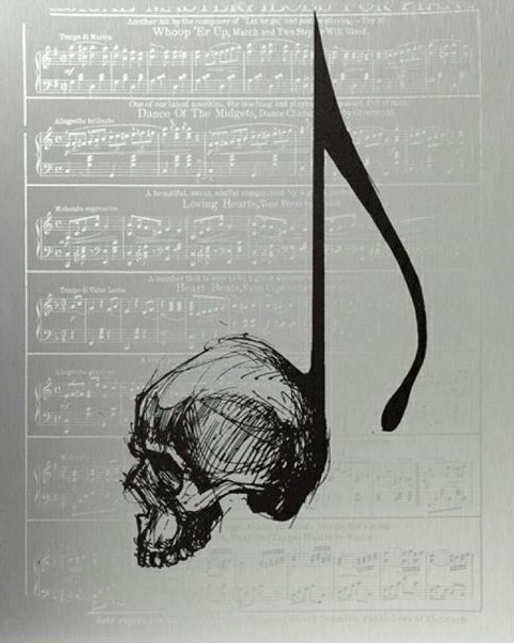Photo of Skull music note More – Today Pin