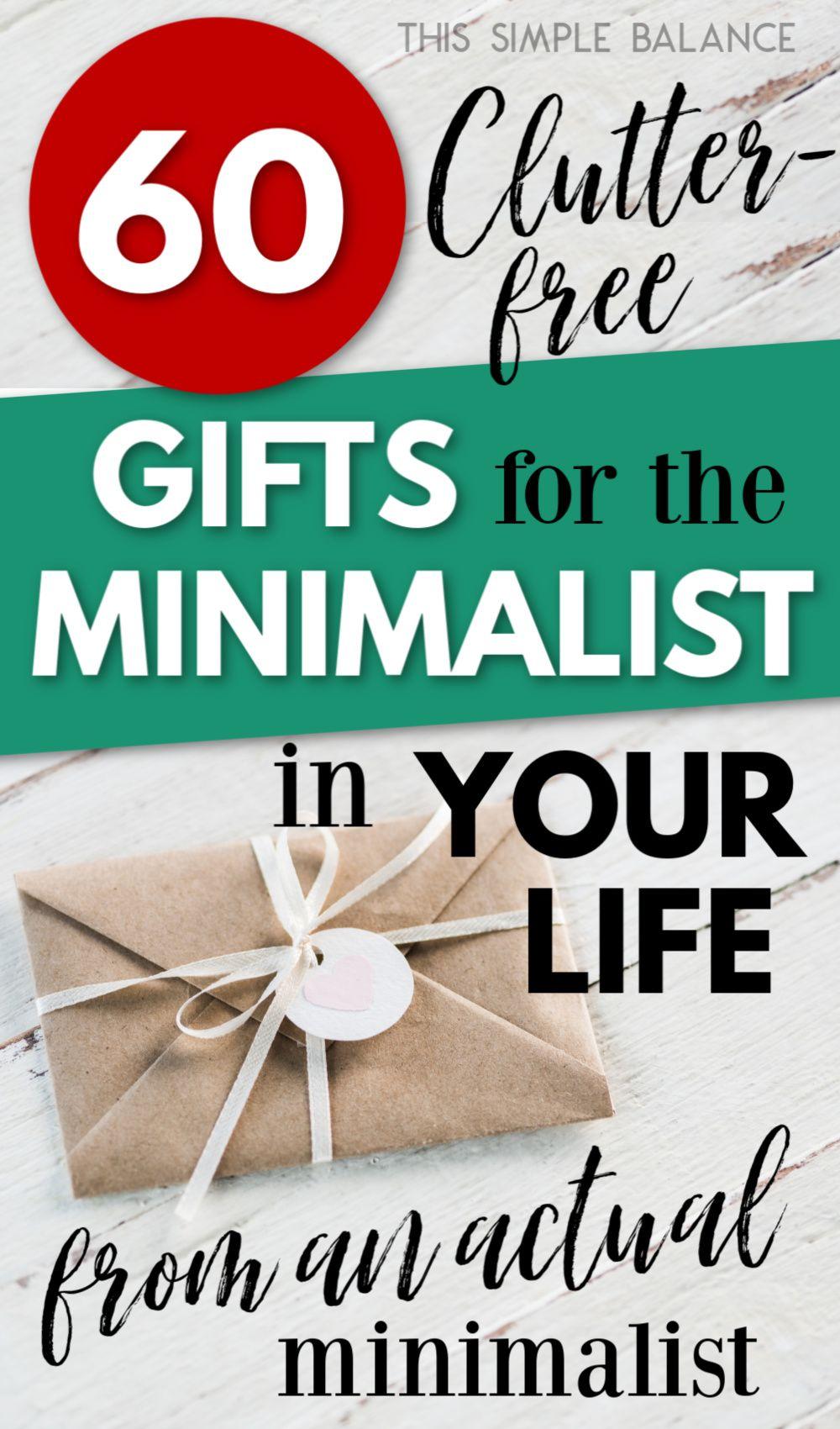 60+ Gift Ideas for Minimalists (Clutter-Free   Minimalist ...