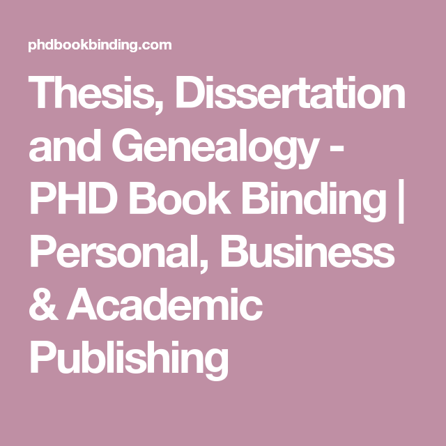 Thesis, Dissertation And Genealogy