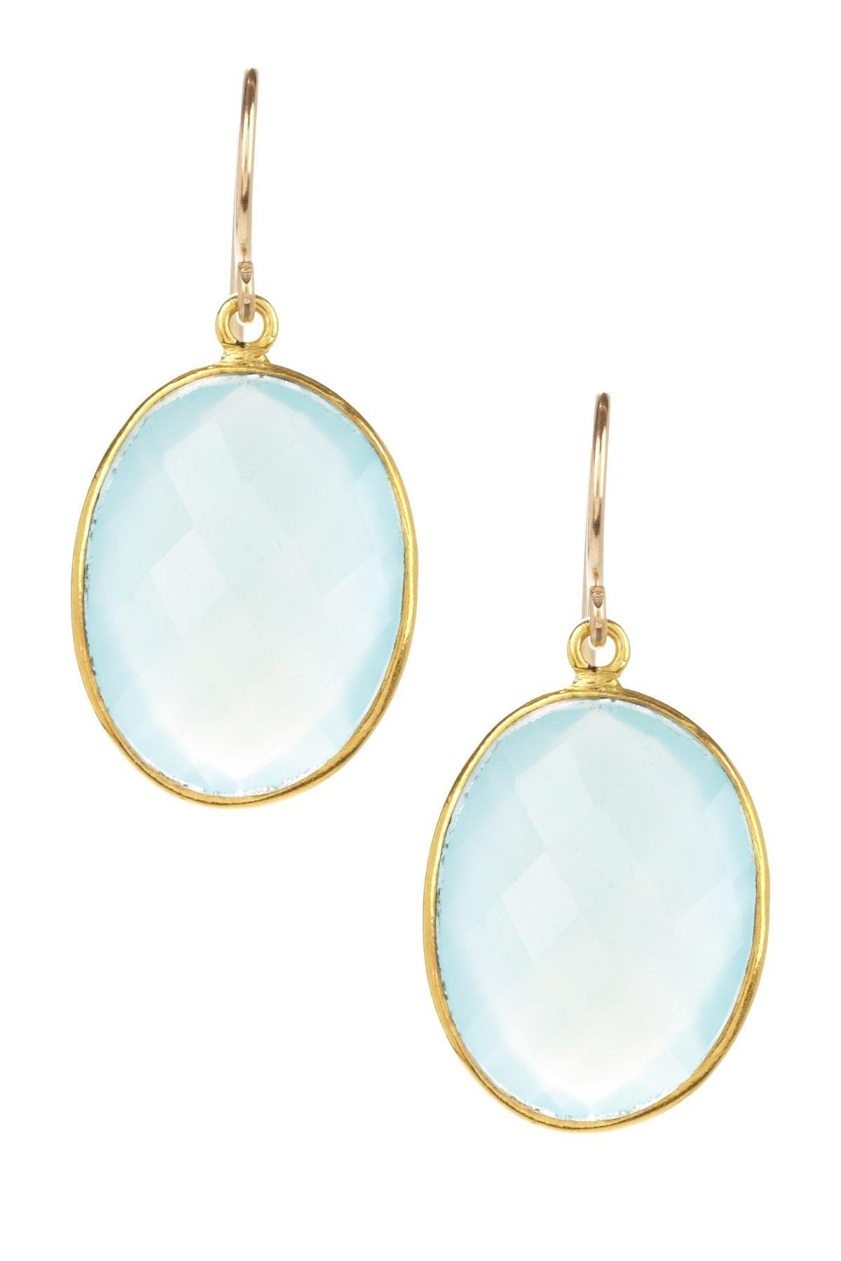 Charming Summer Jewelry Chalcedony Drop Earrings