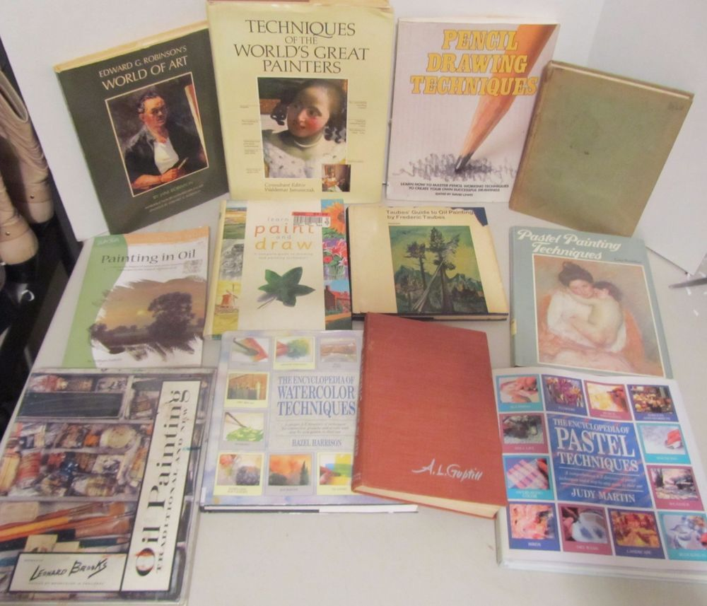 art instruction techniques in painting drawing pastels books lot of