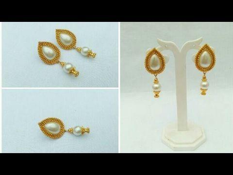 How To Make Designer Earrings How To Make Paper Earrings