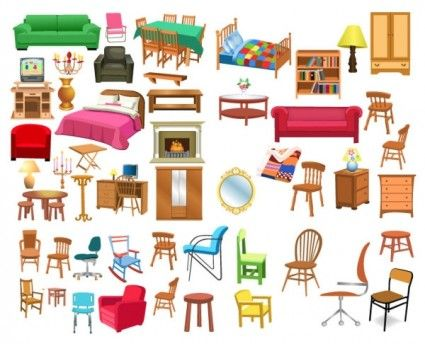 A Variety Of Furniture Clip Art Ideas For Teaching Chinese