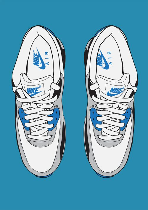 Make Your Own Footprints Nike Airmax 90 S By Chris Bliss