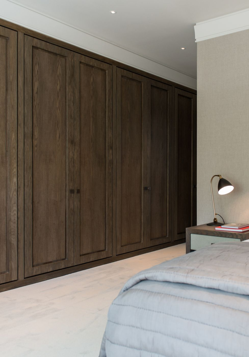 Sleek And Warm At The Same Time   Beautifully Crafted Dark Timber Built In  Wardrobes