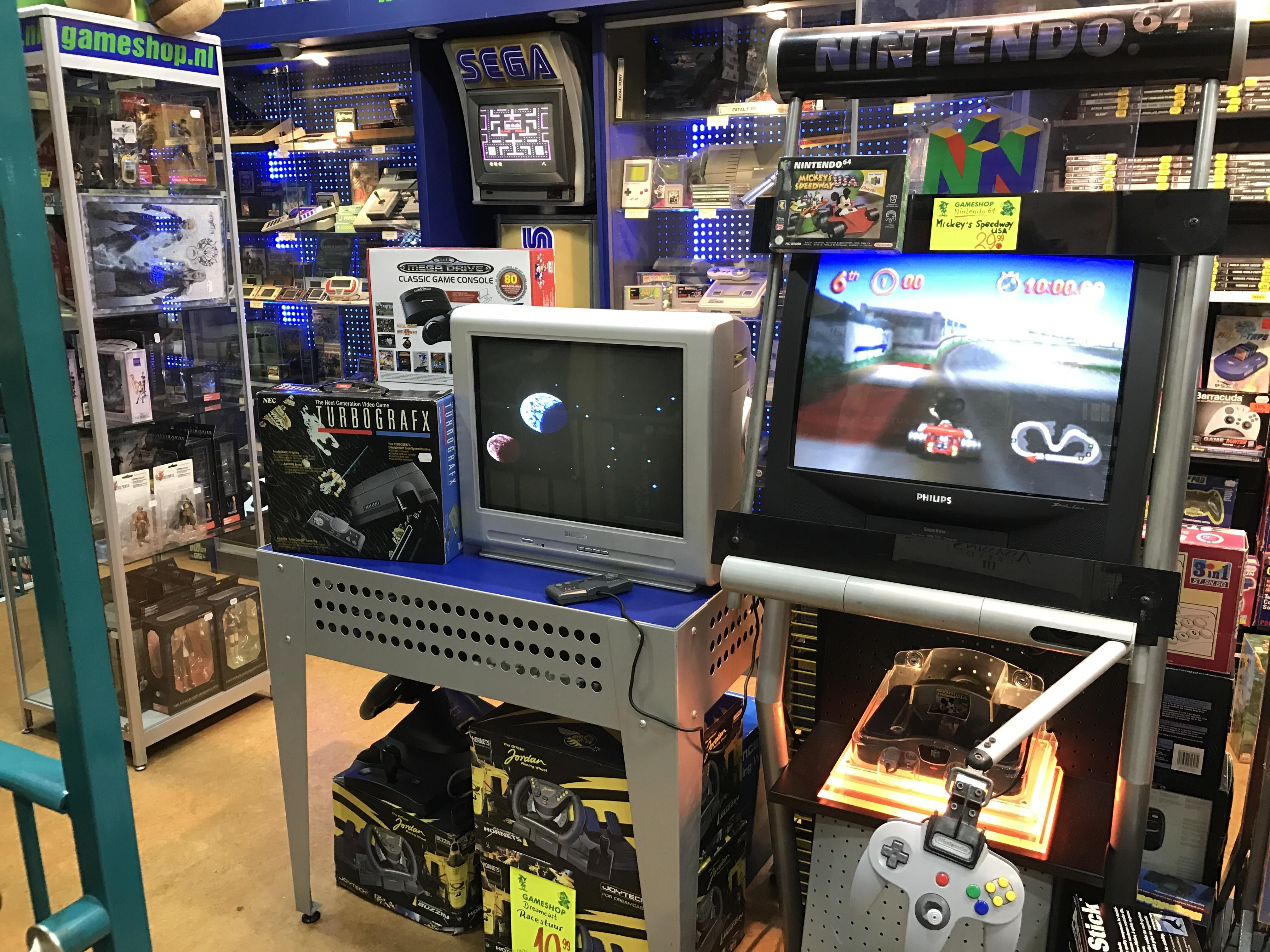 Private retro game collection of a video game shop owner