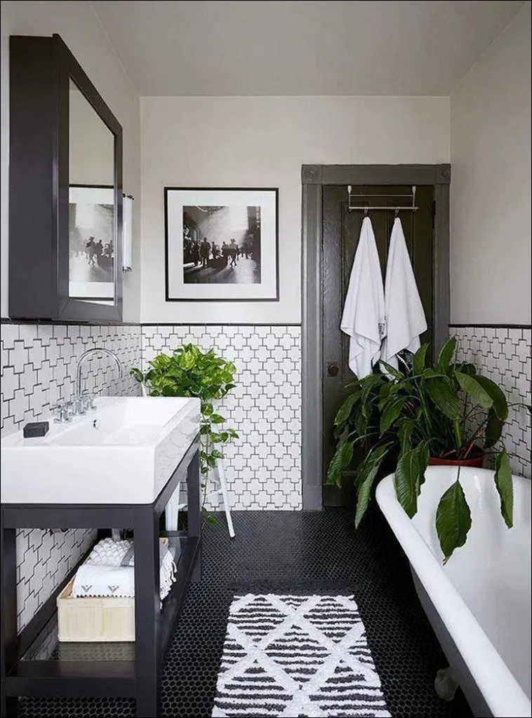 71 Lovely Industrial Farmhouse Bathroom Don T Be Missed 13 With Images Bathroom Interior Master Bathroom Decor Bathroom Remodel Master