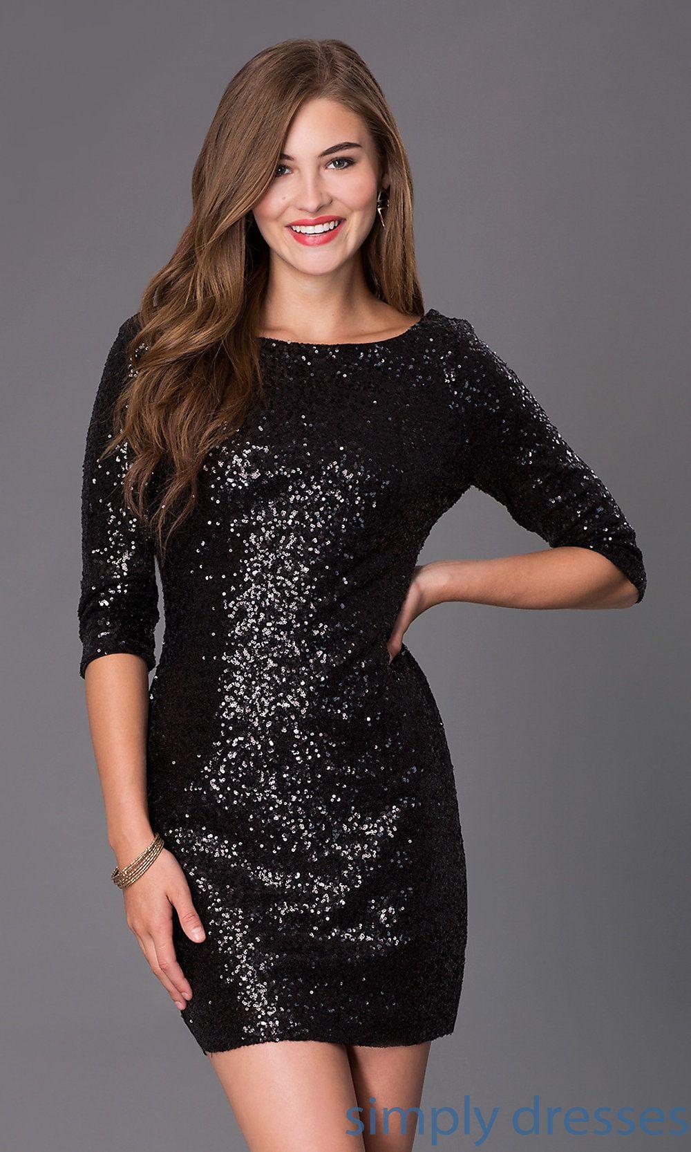 Black ruby rox sequin scoop back party dress hoco pinterest