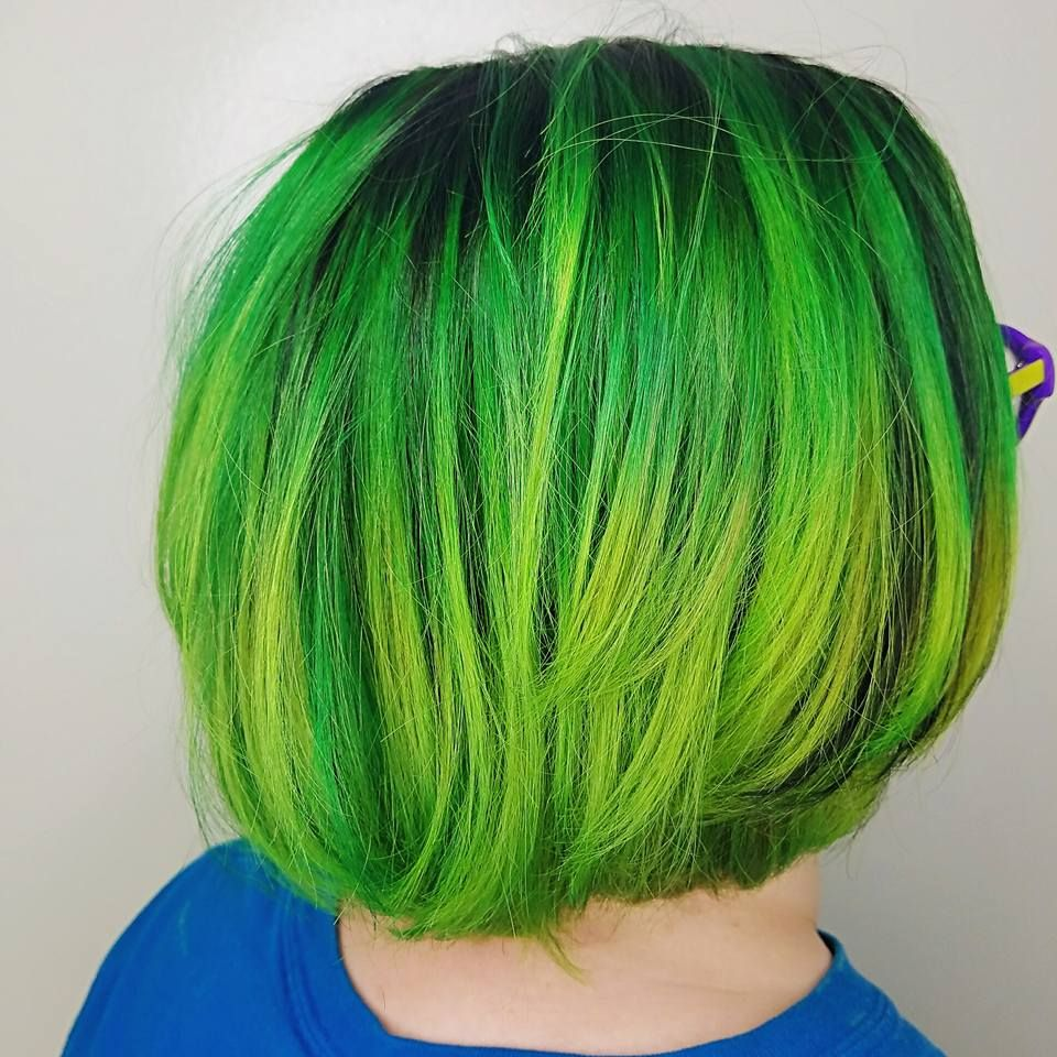 Awesome green color i got done today fancyfollicles