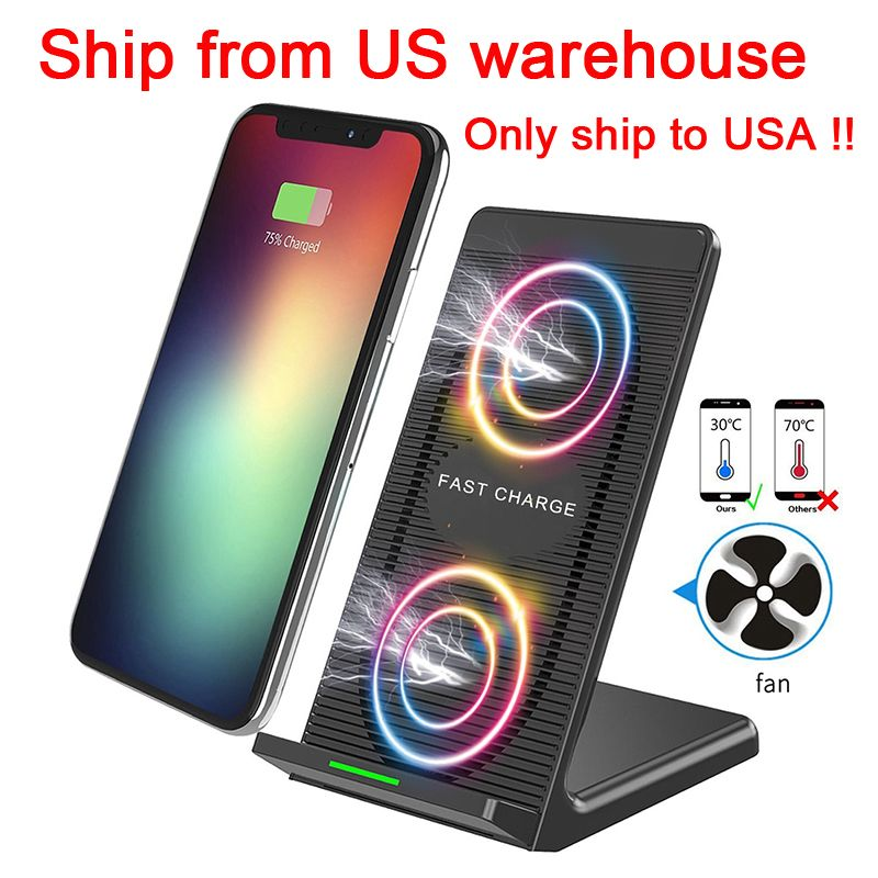 10W 5V/2A Fast QI Wireless Charger Stand Station for