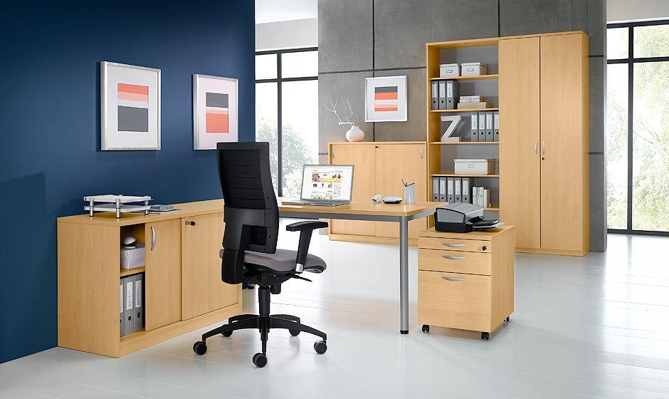 Büromöbel PABLO Fronten in Esche Escada-Dekor von Schäfer Shop ...