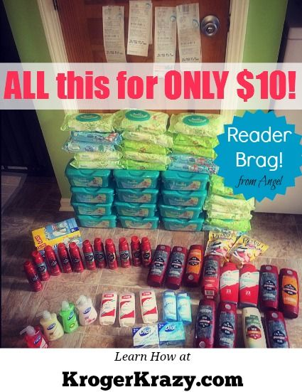 Check out these AWESOME deal reader Angel scored at Kroger! All this for only $10!  Learn how to be a Kroger Jedi?  #Kroger