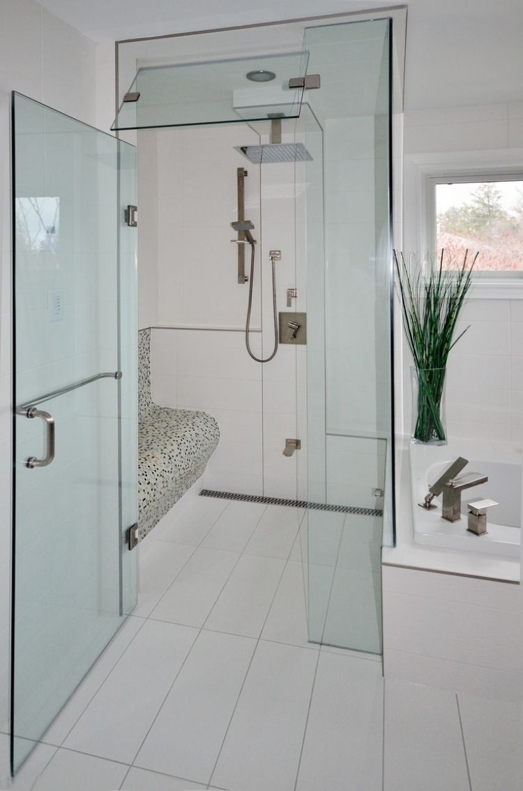 dusche sitzbank gemauert : ebenerdige-dusche-weiss-mosaik-sitzbank