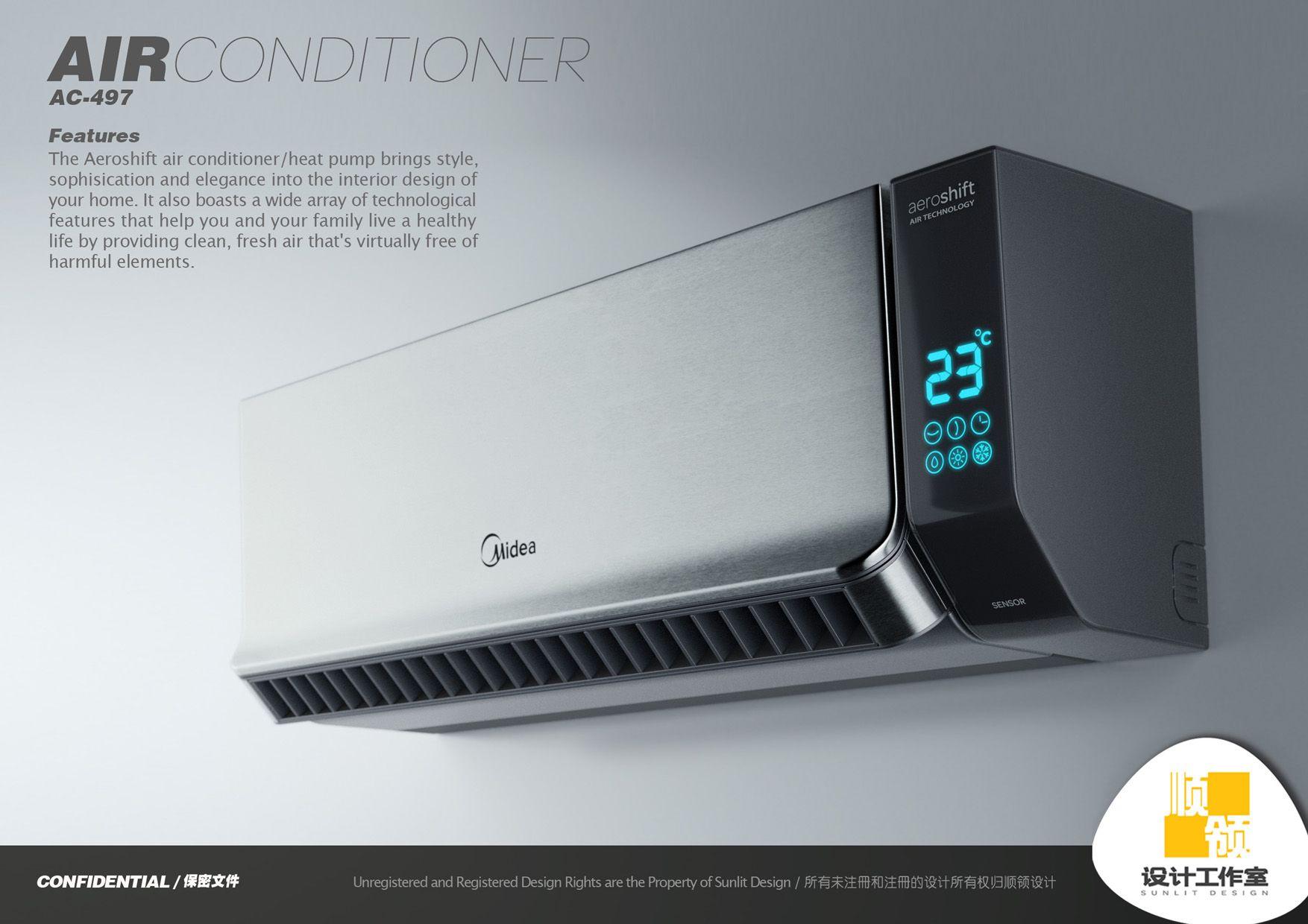 Midea Air Conditioner By Hugo Cailleton Air Conditioner Design