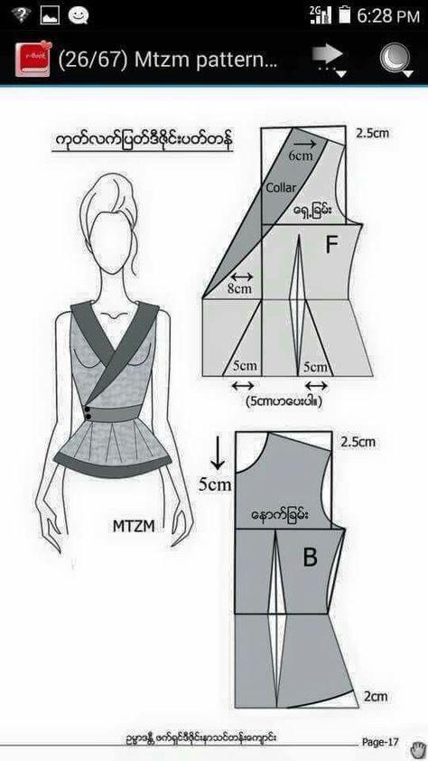 Pin by Doret on patterns | Pinterest | Costura, Patrones de costura ...