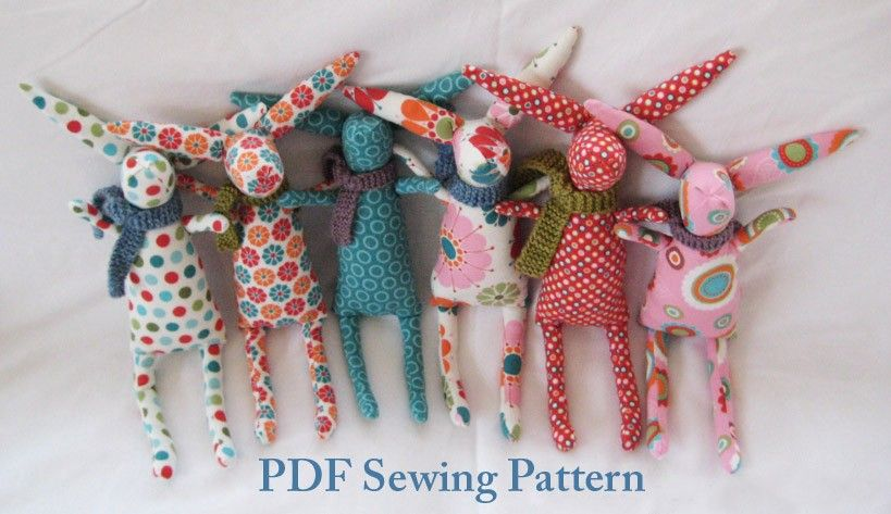 Rabbit PDF PATTERN Easter Bunny Sewing Pattern by rachelod on Etsy ...