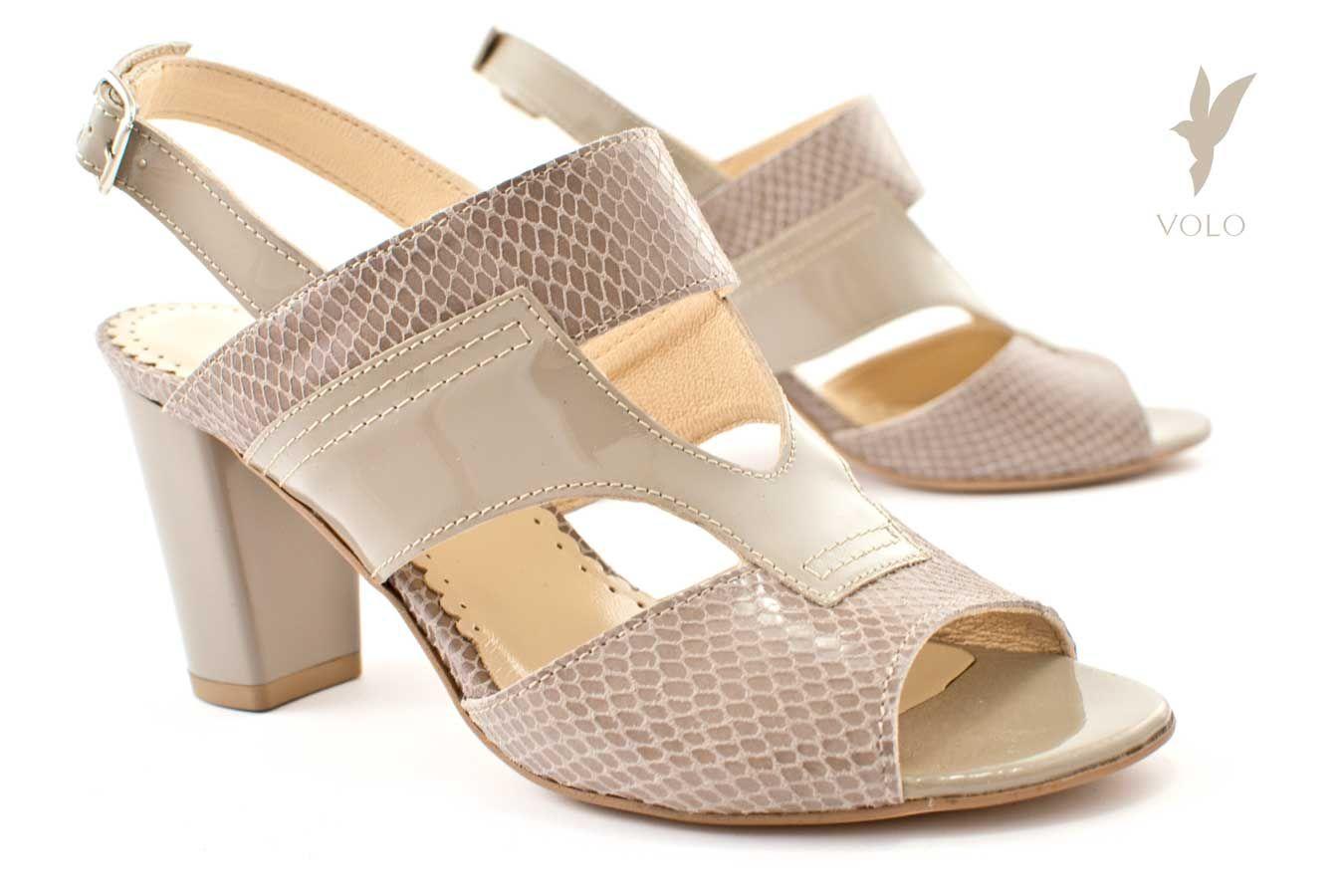 Sandaly Na Obcasie Clara Stabilne I Wygodne Buty Volo Heels Shoes Peep Toe