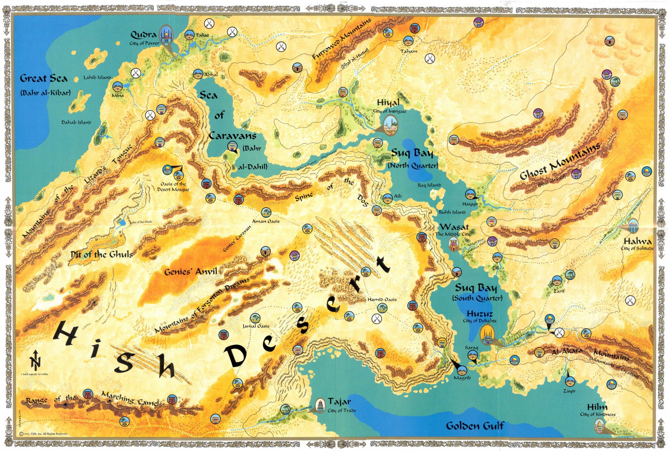 Zakhara Toril Dungeons and Dragons Map Fantasy Forgotten