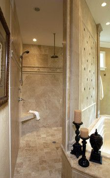 Walk In Shower No Door Design Ideas Pictures Remodel And Decor Traditional Bathroom House Bathroom Bathrooms Remodel