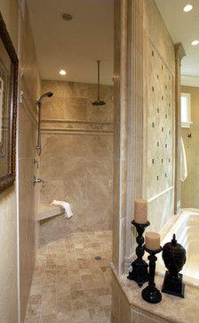 Walk In Shower No Door Design Ideas Pictures Remodel And Decor Traditional Bathroom House Bathroom Bathrooms Remodel