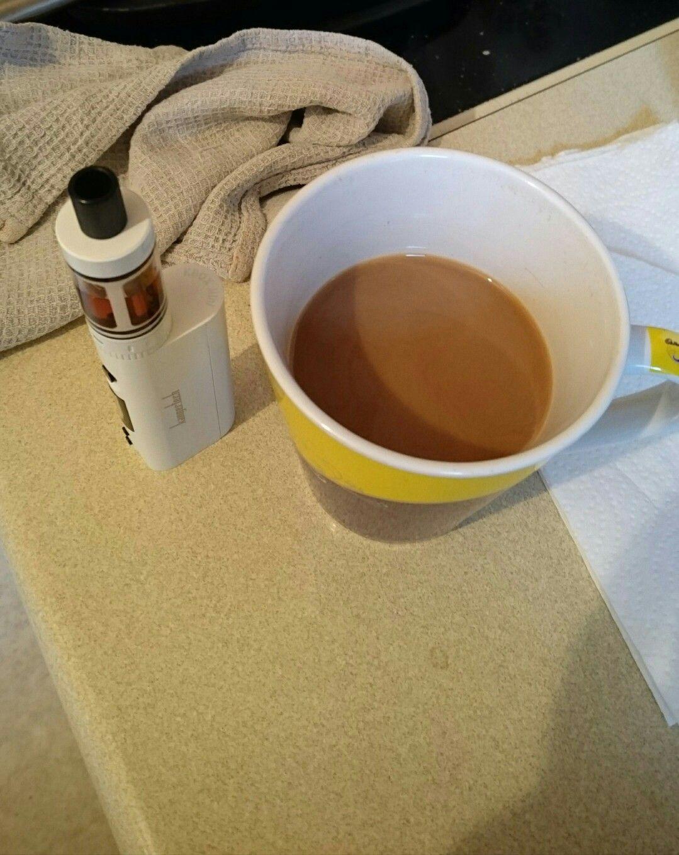 Good morning world breakfastvape coffee good