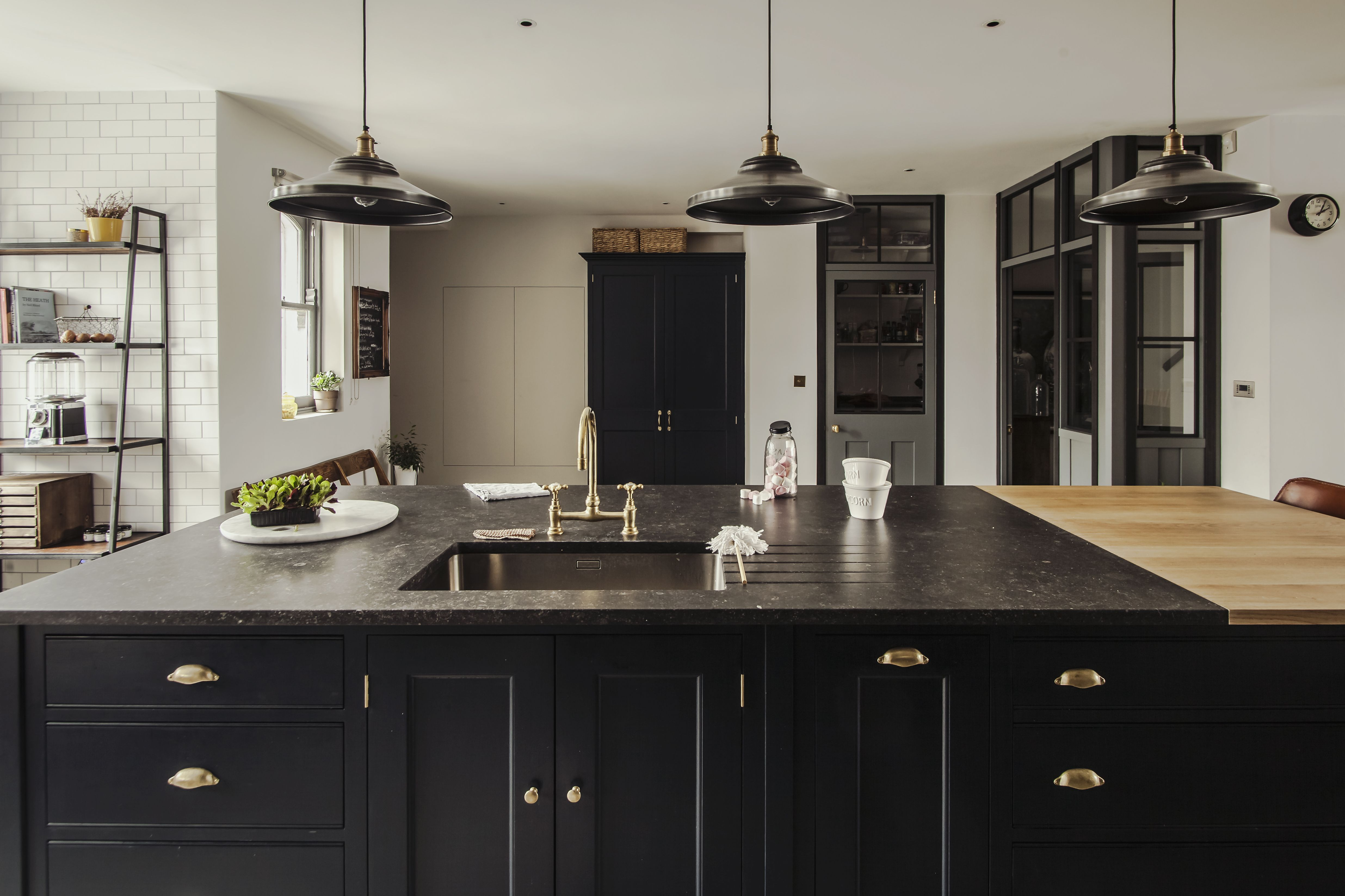 Plain English Osea Island with a bespoke marble and Oak wooden ...