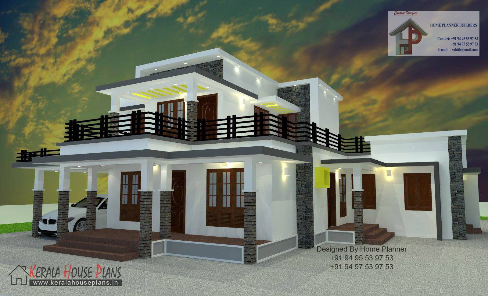 2000 Sqft Box Type House House House Layouts Kerala House Design