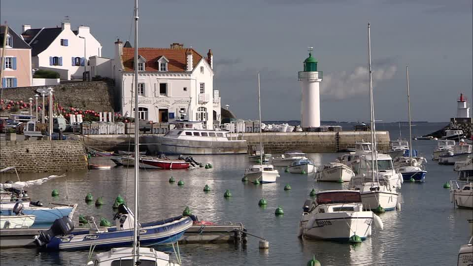 Hafen Sauzon Bretagne Rm Video 194