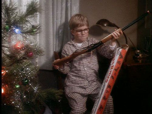 Ralphie says he wants a bebee gun 28 times in \