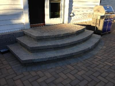 How To Design Paver Steps | Paver Patio Steps   Design Features Photo  Gallery   Archadeck