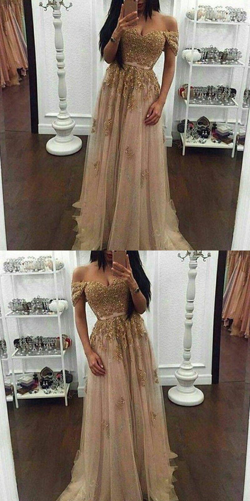 Modern pearl pink prom dress off shoulder short sleeves beaded