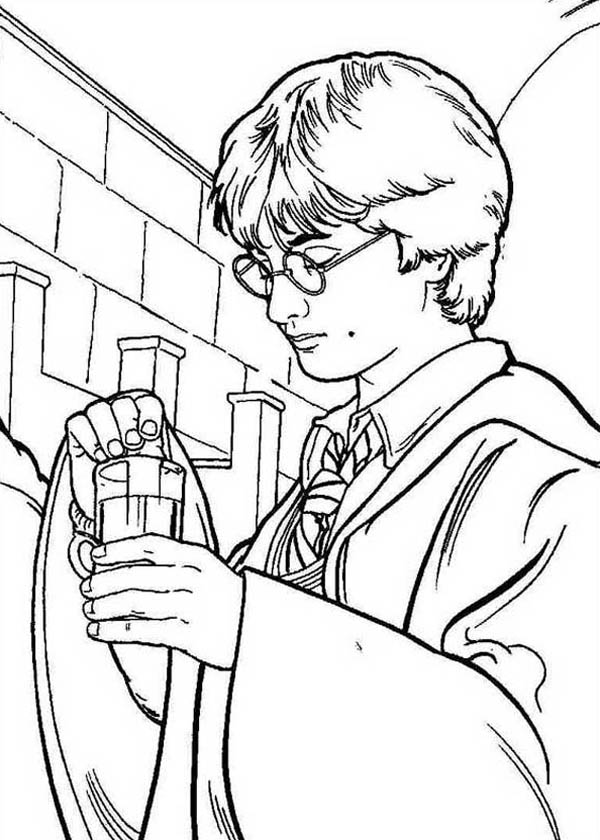 Harry Potter Make His Polyjuice Potion Coloring Page Netart Harry Potter Coloring Pages Harry Potter Colors Harry Potter Portraits