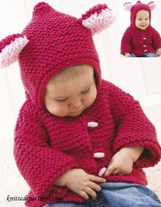 b386290d5 Baby jacket knitting pattern free SIZES 6 (12 18) months
