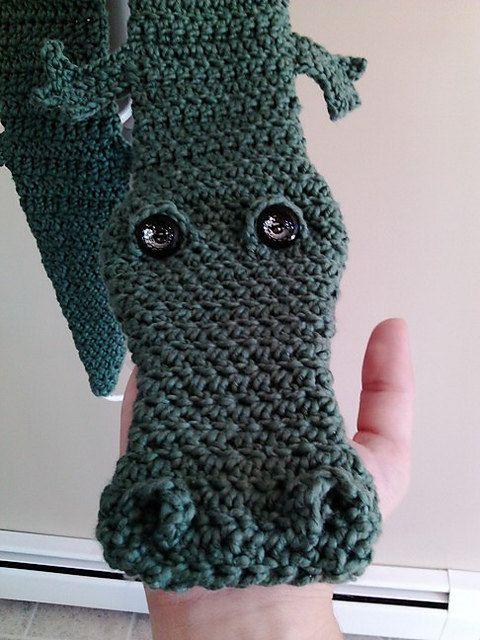 Alligator Scarf Pdf Pattern Knit And Crochet Pinterest