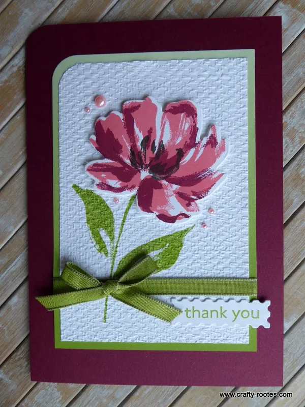 Customer Thank You cards - For Kylie Bertucci's Demonstrator Training Blog Hop - Crafty-rootes
