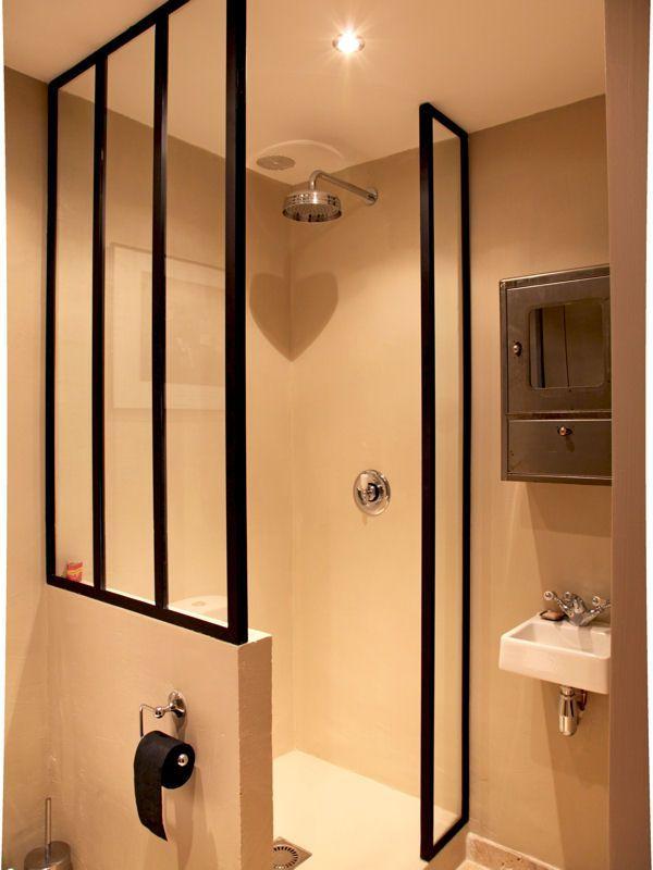 paroi de douche demi hauteur