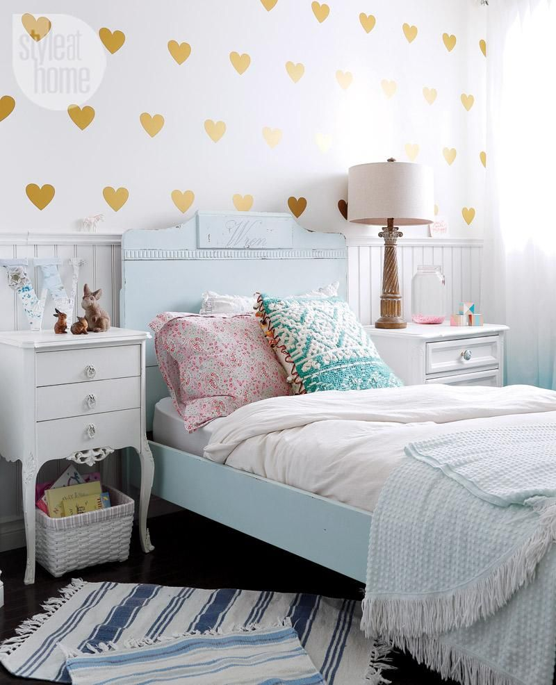 Small Cozy Bedroom For Girls Bewitching Pink Wallpaper In: House Tour: Neutral Nautical Lake House
