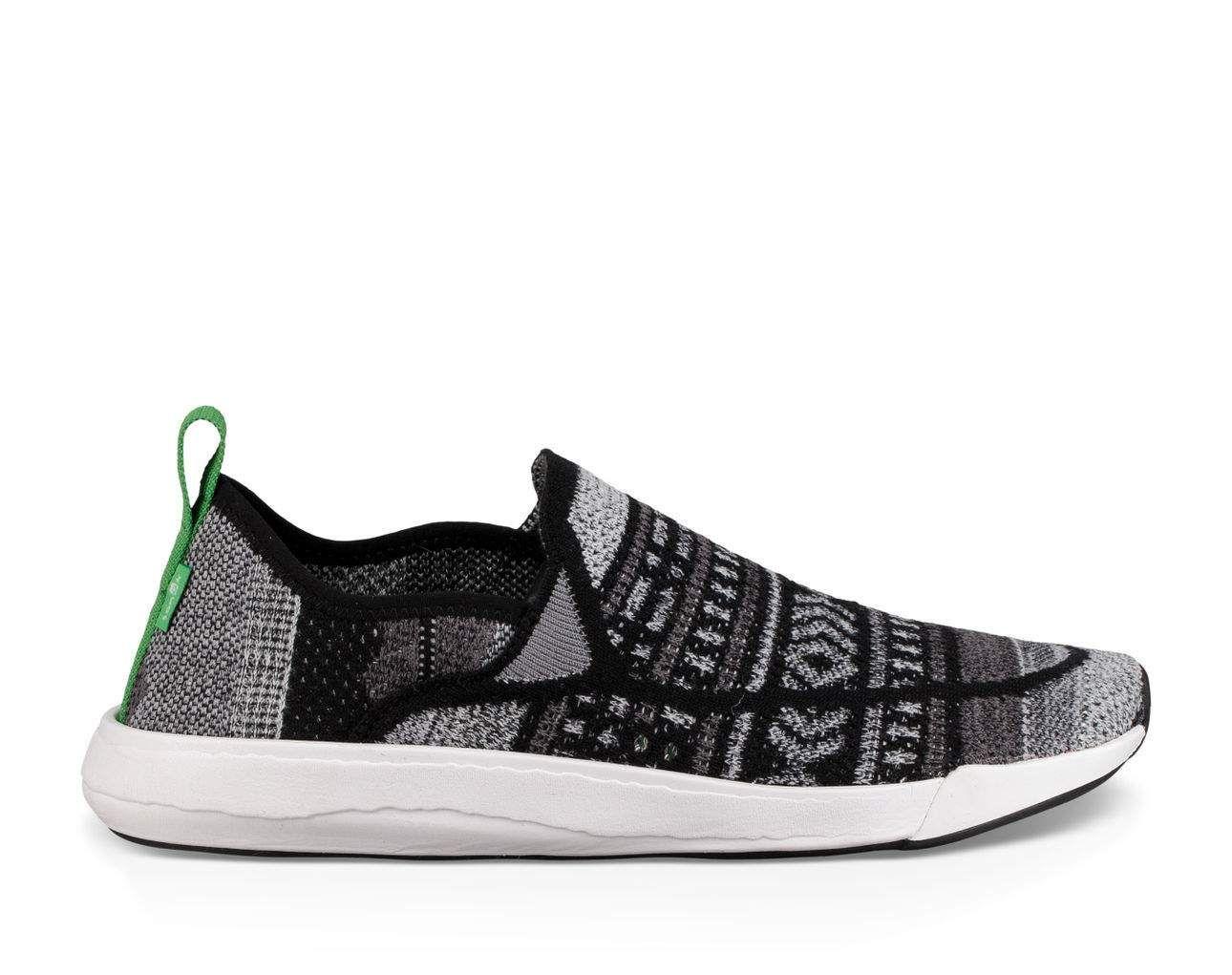 Sanuk Chiba Quest Knit Black Shoes Mens Size 11 *NEW*