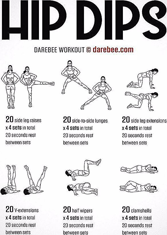 Hip Dips Workout by DAREBEE #darebee #fitness #workout