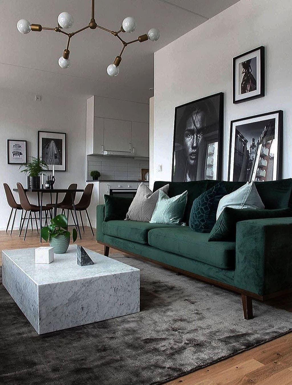 35 Fascinating Sofa Design Living Rooms Furniture Ideas Pimphomee Green Sofa Living Room Living Room Decor Apartment Scandi Living Room