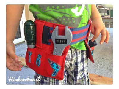 Himbeerkamel: Kinder-Werkzeuggürtel mit Anleitung | nähen Kinder ...