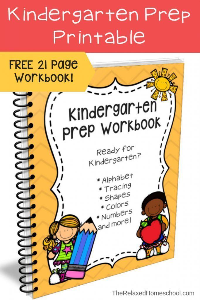 FREE Kindergarten Prep Workbook | Beginning of school in ...