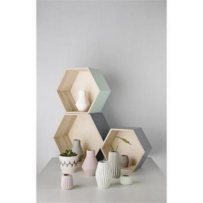 Etagère hexagonale bloomingville bois naturel noir - Achat / Vente