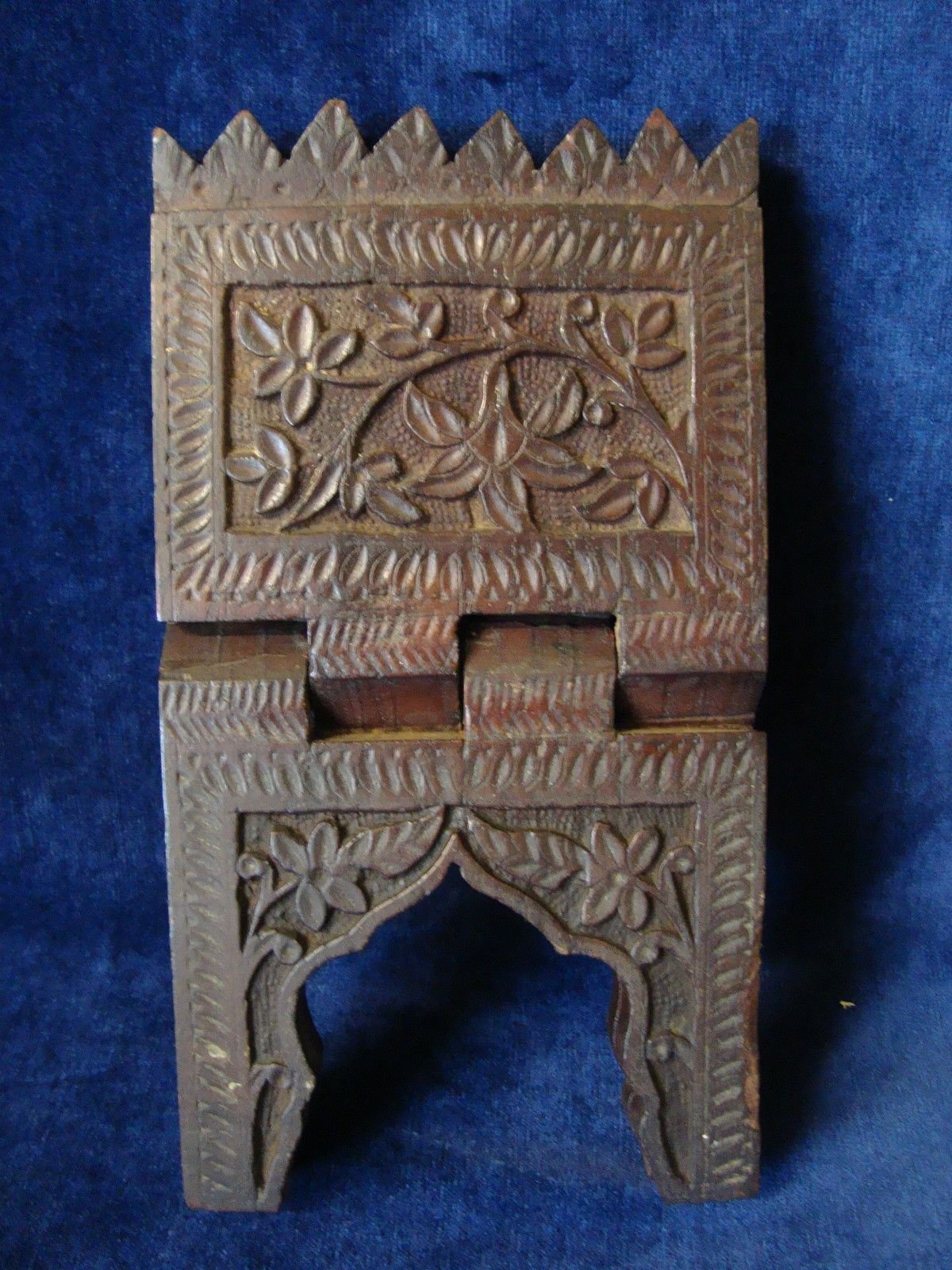 an antique or vintage small carved wood koran stand ebay qur