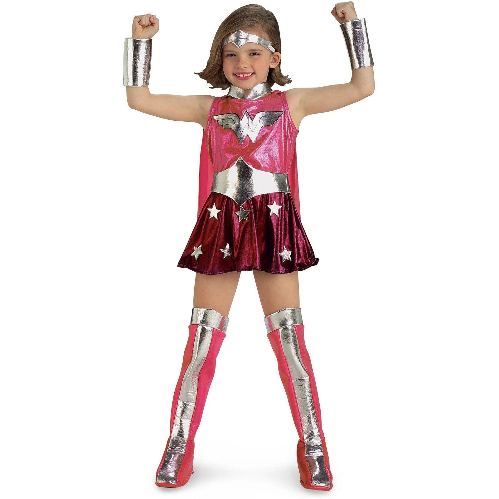 Wonder Woman Costumepink For Girls Mit Bildern Wonder Woman Kostume Weibliche Kostume Superhelden Kostum