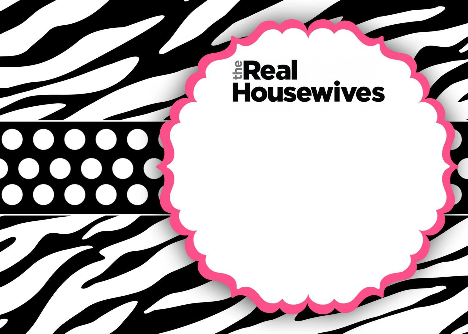 real housewives of new jersey party ideas free cute invite print out rhonj - Cute Things To Print Out